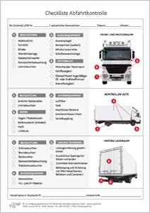 Checkliste LKW-Abfahrtskontrolle