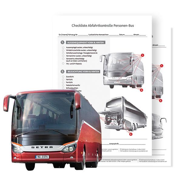 Personenbus Abfahrtskontrolle