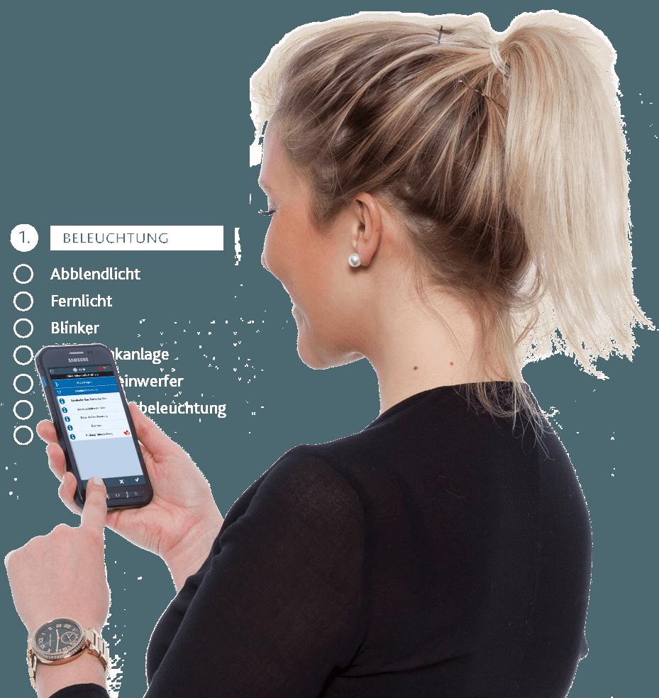 Android-App der TIS GmbH zur LKW-Abfahrtkontrolle